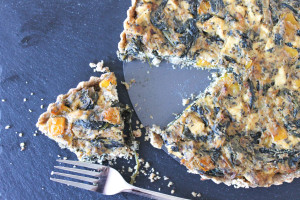 Vegan 'Feta' and Spinach Quiche