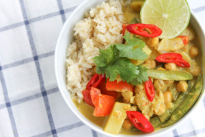 Vegetable Thai Red Curry with Chickpeas