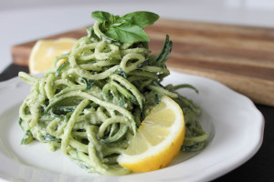 Creamy Avocado Hemp Pesto & Zoodles