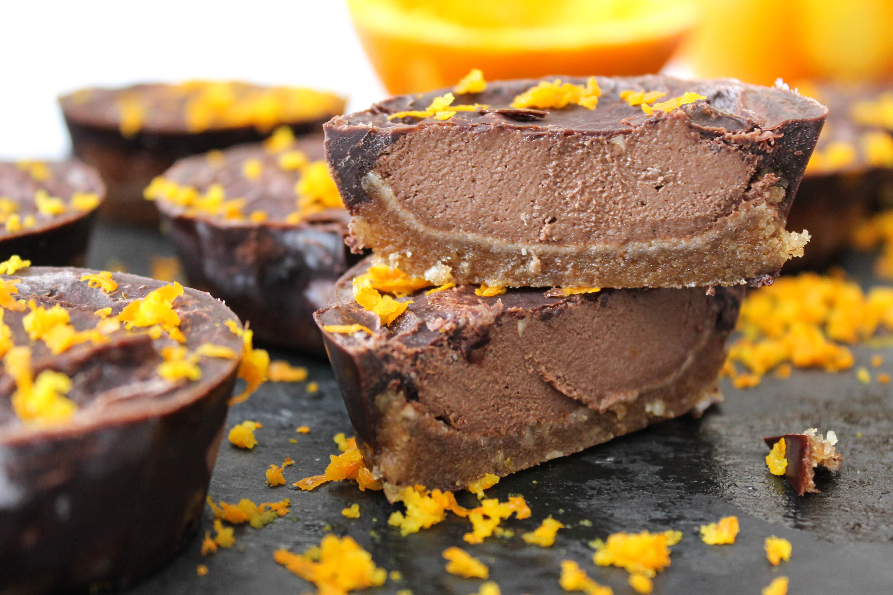 Orange Chocolate Cashew Tarts