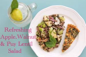 Refreshing Apple, Walnut, & Puy Lentil Salad